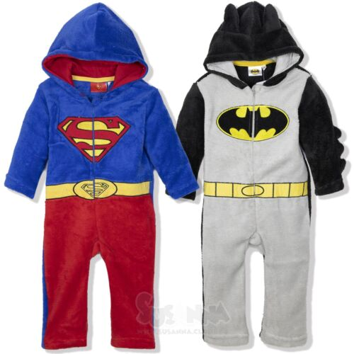 DC Comic Bebé Niños Todo en Uno Enterizo Enterito 9-36 meses cálidos Superman Batman