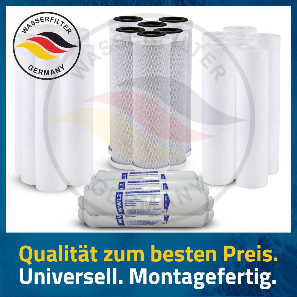 Ersatz Filter Patronen Set 5 Stufen Umkehrosmose Anlage 3 Jahre 24 Wasserfilter