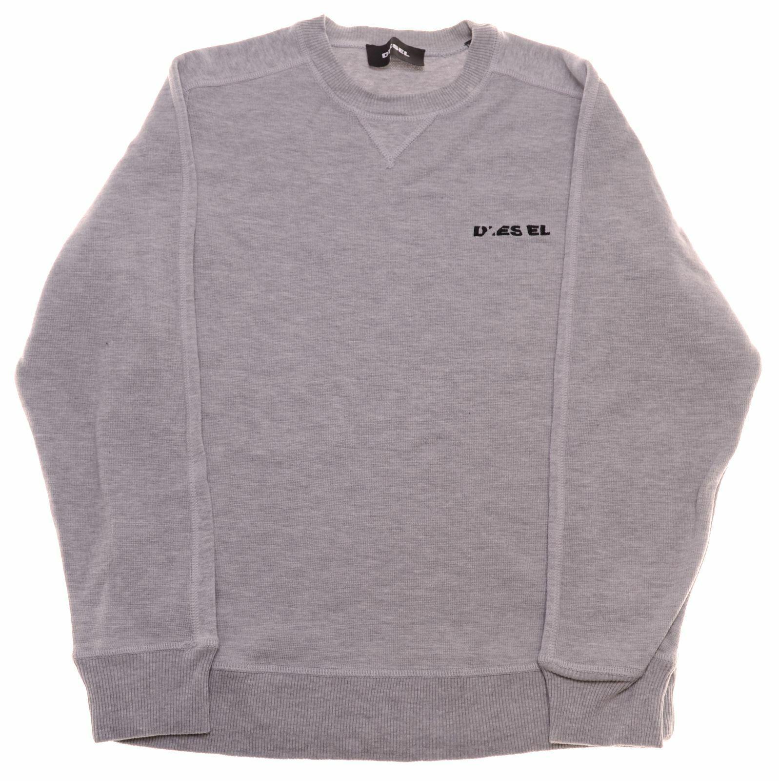 DIESEL Mens Sweatshirt Jumper Medium Grey Cotton JK08