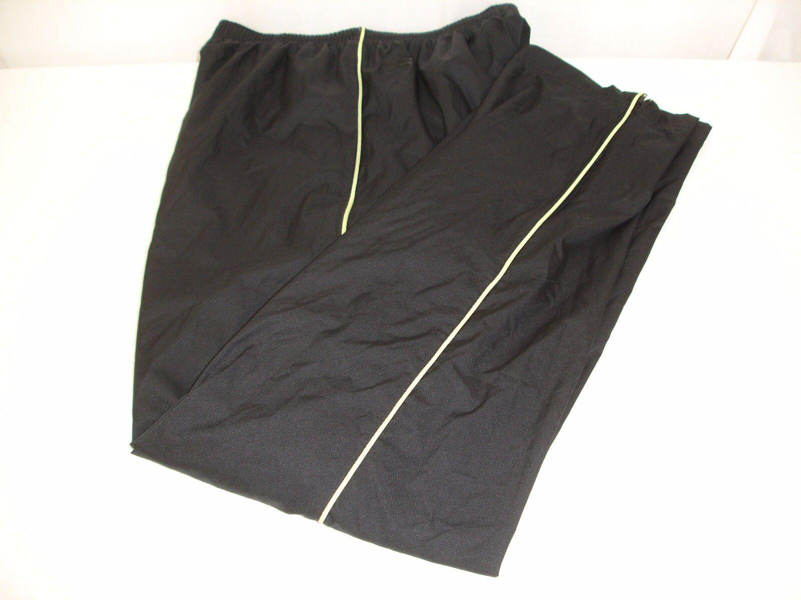 New Balance Women's Lined Track Pants Black Yellow Stripe M NWOT