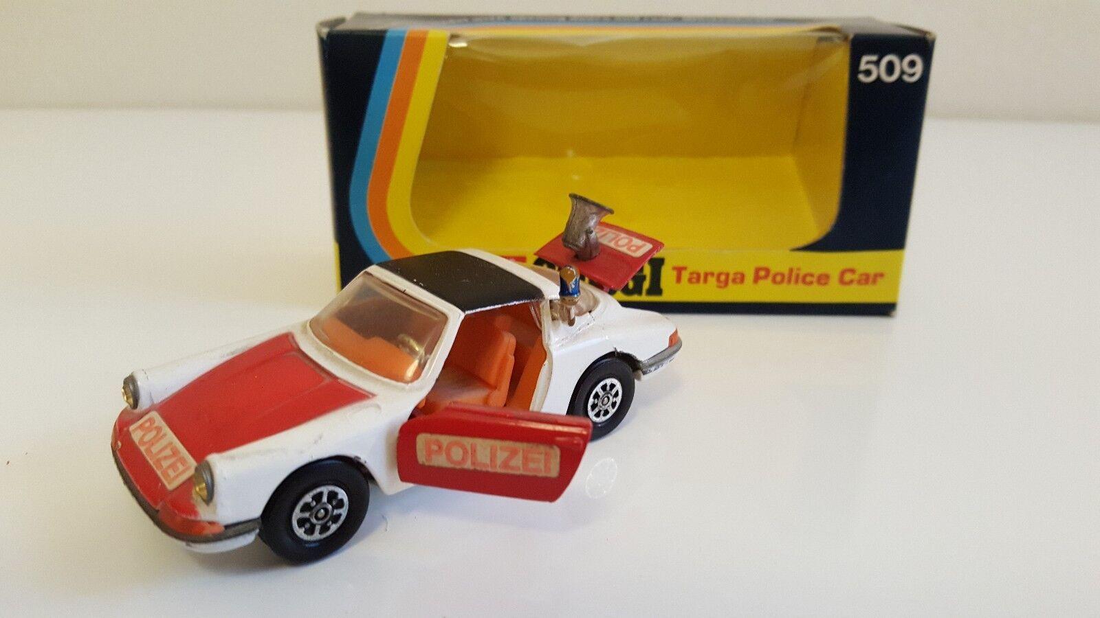 Corgi toys - 509-porsche 911 targa police in original box (1 43)
