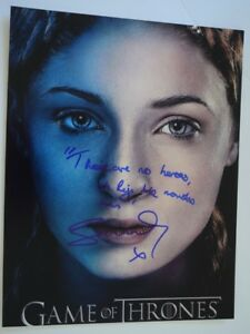 Sophie-Turner-Signed-Autographed-11X14-Photo-Game-of-Thrones-RARE-QUOTE-COA-VD