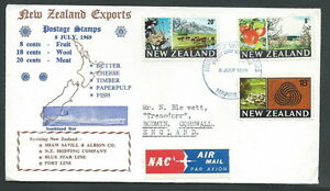 1969 New Zealand Fdc Exports No Timbro Arrivo - V