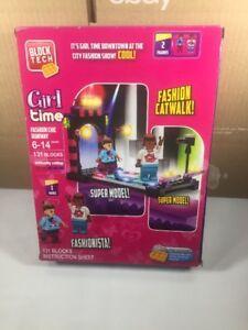 Block tech Fashion Chic Runway girl Time Construction Set Open Box