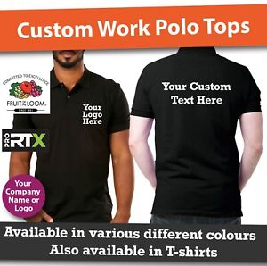 Details about Custom Personalised Printed Polo Shirts Work Uniform Men &  Woman Workwear