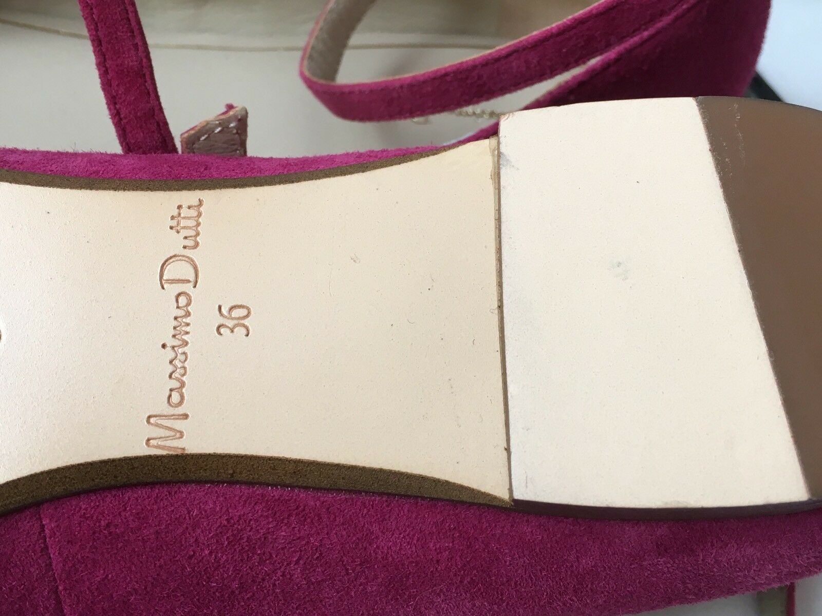 NEW NEW NEW MASSIMO DUTTI SUEDE LEATHER FLAT SHOES UK3 (36) ef29ac