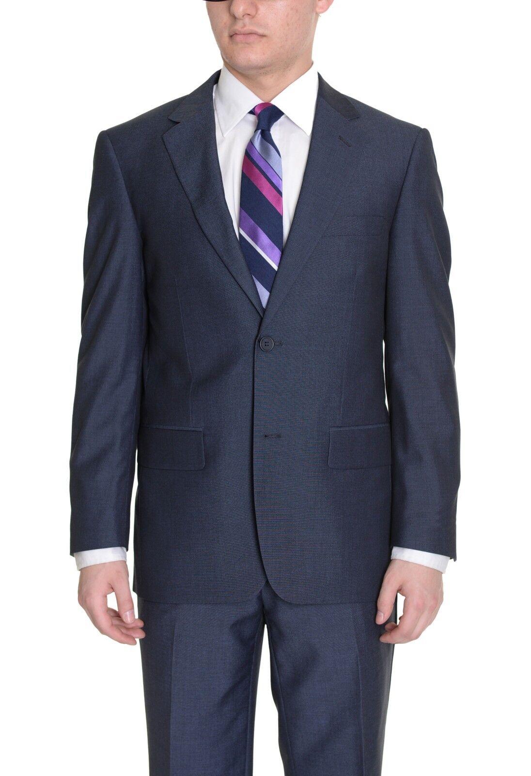 Reblack Classic Fit Navy bluee Two Button Suit 40L 34W