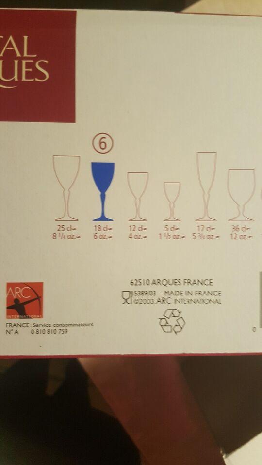 Glas, 36 Blå Saphir, Cristal D'arques