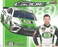 "2017 COREY LAJOIE ""DUSTLESS BLASTING"" #83 NASCAR MONSTER ENERGY CUP POSTCARD"