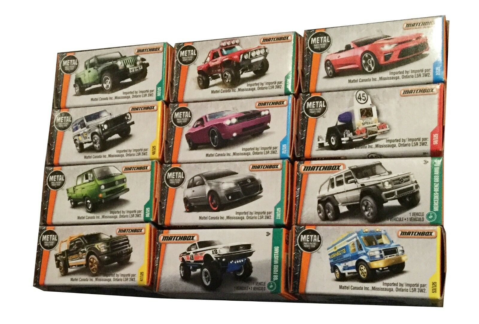 NIB Matchbox 2016 Car Collection, 12 Cars per set, see pictures for details