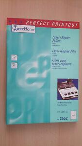 100 Blatt, Zweckform,Typ:3552 Laser Kopier-Folien, 210x 297 mm - Seligenstadt, Deutschland - 100 Blatt, Zweckform,Typ:3552 Laser Kopier-Folien, 210x 297 mm - Seligenstadt, Deutschland