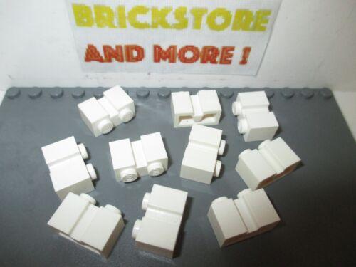 Lego 10x Brique Brick 1x2 2x1 groove 4216  White//Blanc//Weiss