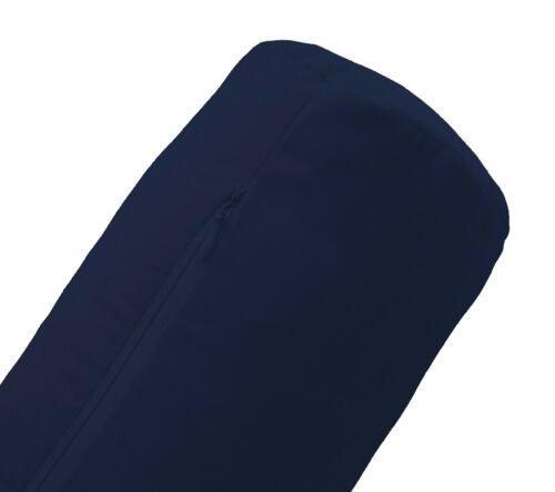 Mb101g Bleu Marine Micro Daim Floqué Velours Bolster Cover Neck Roll case taille