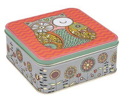 Rachel Ellen Folk Tales Square Storage Tin,Biscuit Tin,Cake Tin,Gift,New Home