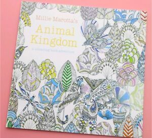 24 Pages Animal Kingdom Coloring Book Children Adult Stress Kill