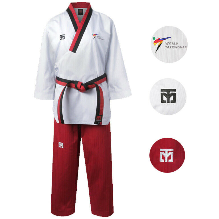 New  WT Logo Mooto Official Taekwondo Dobok Uniform Gi Kukkiwon Approved Women  large discount