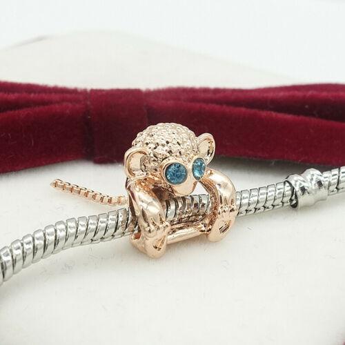 1pcs silver CZ European Charm Beads Fit 925 Bracelet Necklace Pendant