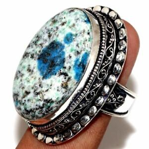 925 sterling silver ring azurite ring Gemstone ring
