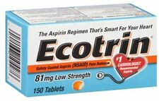 Ecotrin 81 mg Safety Coated Enteric Aspirin, Low Strength Tablets 150 ea 4PK
