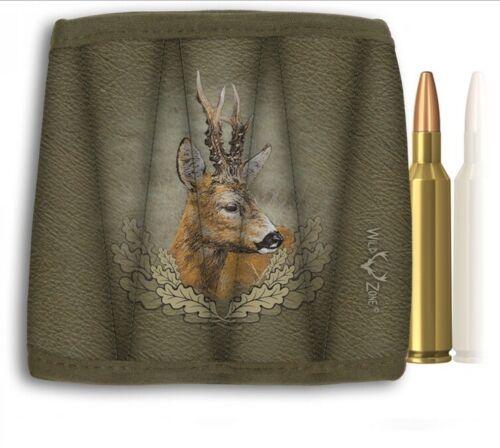 motivo ciervos caza bolsa de munición de bala Bolsa de cartucho de cazador ciervos de las huevas verraco salvaje