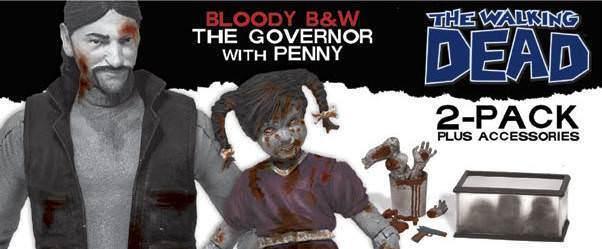 Zombie - serie 2 gouverneur & penny action figure set