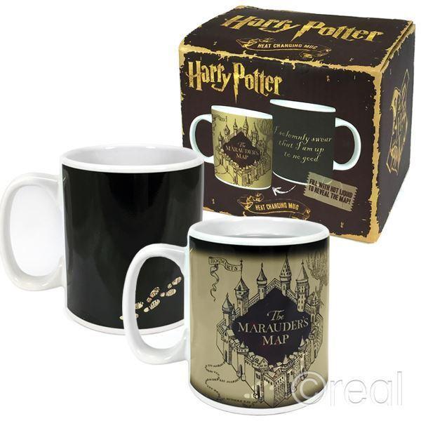 NUOVO Harry Potter Marauder's Map Heat Cambiando Tazza Caffè I Marauders Ufficiale