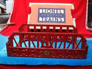 LIONEL-No-270-PW-10-034-BRIDGE-W-PART-ORIG-BOX-OVERALL-NICE-CONDITION