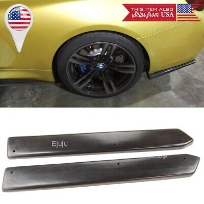 "ABS 21/"" Rear Side Bumper Lip Skirts Apron Splitter Diffuser Valence For  Audi"