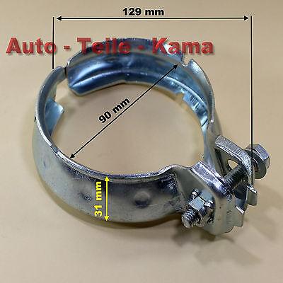 Ø 90 mm Abgaskrümmer Auspuff Schelle für Mercedes Benz Kat
