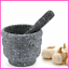 Herbs Grinder Stone Mortar Bowl Pestle Spice Crusher Guacamole Mixing Grinding