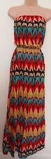 PRIMARK TRIBAL ETHNIC AZTEC BANDEAU MULTICOLOR FLIPPY FESTIVAL LONG MAXI DRESS 8