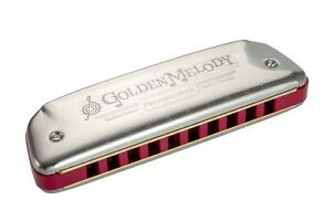 Harmonica-diatonique-Hohner-Golden-Melody-neuf-Do-C-accordage-temperament-egal