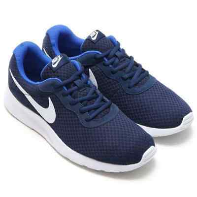 exquisite style discount shop new york Mens Nike Tanjun Running Trainer Shoes Midnight Navy/White-Game Royal  812654 414 685068835629 | eBay