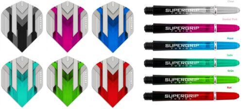 9 Supergrip Fusion Shafts Neu 18 Teile Set 9 Amazon Silver Dart Flights inkl