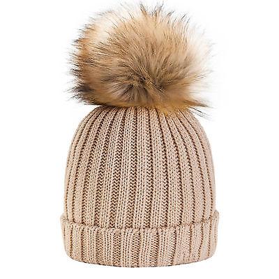 Unisex Girls Boys Kids Children Knitted Beanie Winter Worm Bubble P Hats Cap