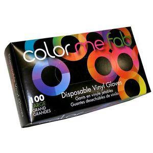 Framar Powder Free Disposable Vinyl Hair Coloring Gloves - 100 ct ...