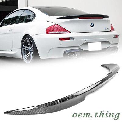 Carbon Fiber BMW E63 6-Series 2D Coupe V-Type Trunk Rear Spoiler Ready to ship