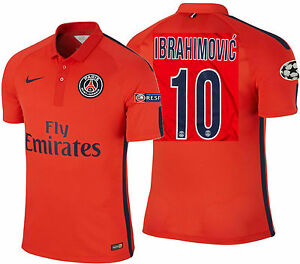 premium selection 36313 16d4e Details about NIKE IBRAHIMOVIC PARIS SAINT-GERMAIN PSG AUTHENTIC THIRD  MATCH JERSEY 2014/15.