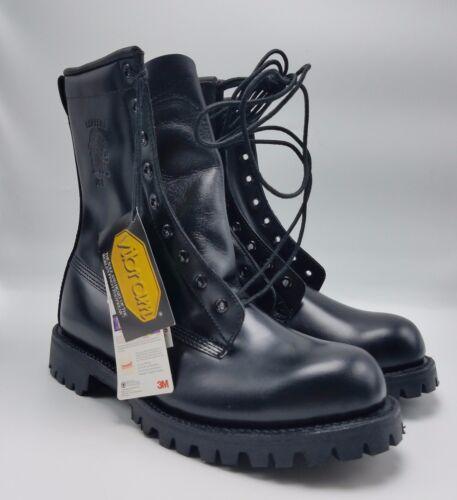 Chippewa #29370  Black High Gloss Work Boots 400G Thinsulate sz 7 EEE NWOB!