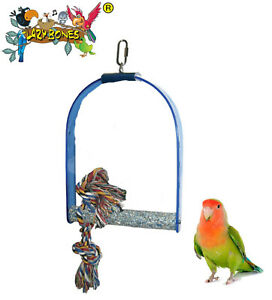LAZYBONES-MEDIUM-6-034-HANGING-ACRYLIC-SWING-SMALL-BIRD-BUDGIE-LOVEBIRD-PERCH-LB45