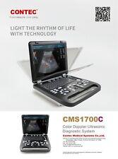 Cms1700c Color Doppler Portable Ultrasound Scanner35mhz Abdominal Probe Contec