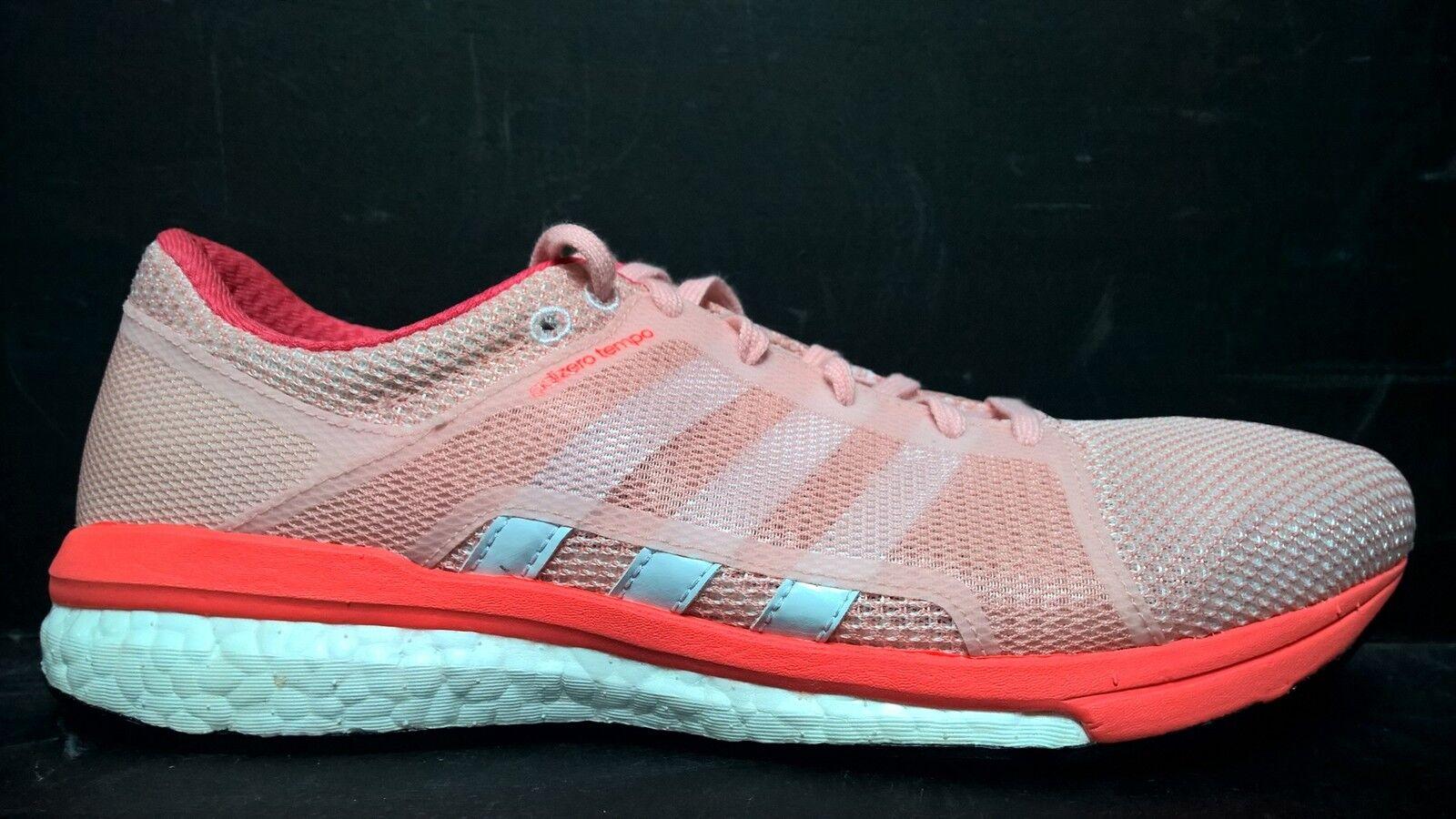 Adidas Donna Size 8.5 Adizero Tempo 8 SSF Running Running Running Shoes, AQ6112, Pink White dccc2e