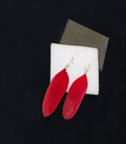 feather earrings handmade jewelry cute silver