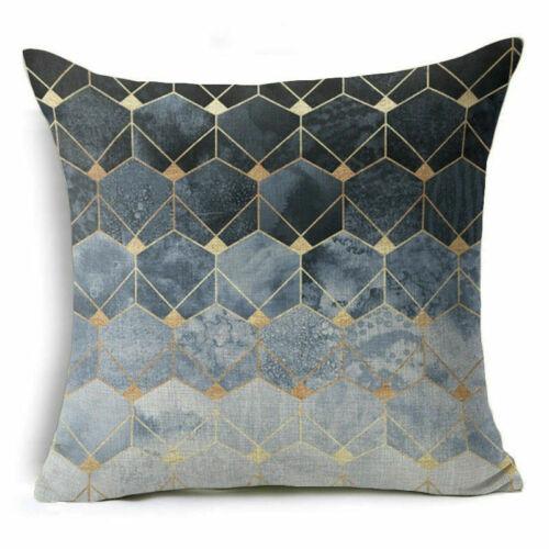 Cover Pillow Decor Geometric Throw Cushion Case Abstract Home Cotton Linen Sofa