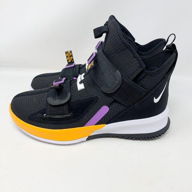 Nike LeBron James Soldier 13 XIII SFG Black Gold Violet Purple AR4225-004 Lakers