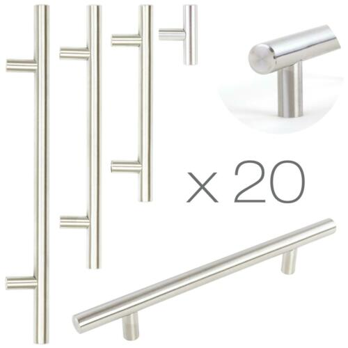 20x T Bar 160mm Brushed Steel Kitchen Cupboard Cabinet Drawer Door Handles