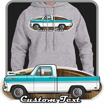 Custom Art Hoodie 1967-1969 XLT F-100 F100 Pickup Truck not affiliated with ford