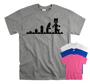 Funny Batman Evolution Lego Unisex Children's Kids T-Shirt Birthday Top Gift