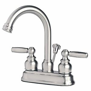 Contemporary Bathroom Vanity Sink 4 Centerset Lavatory Faucet