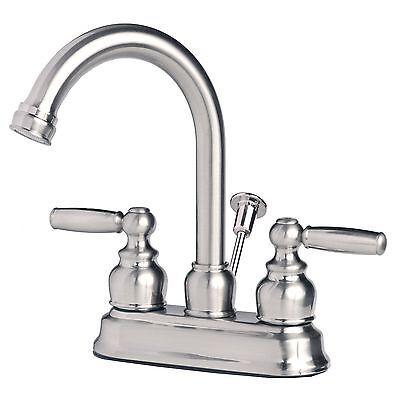 "Contemporary Bathroom Vanity Sink 4/"" Centerset Lavatory Faucet Brushed Nickel"